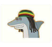 Reggae Shark Art Print