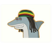 Reggae Shark Art Print
