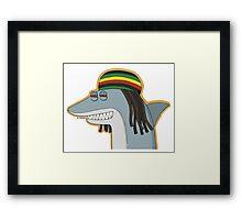 Reggae Shark Framed Print