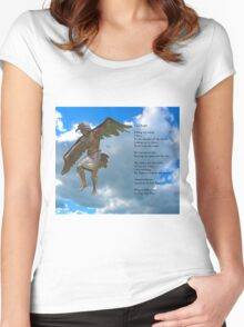 Winged Messenger by Gary Lee Price Women's Fitted Scoop T-Shirt