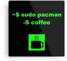 Linux sudo pacman -S coffee Metal Print