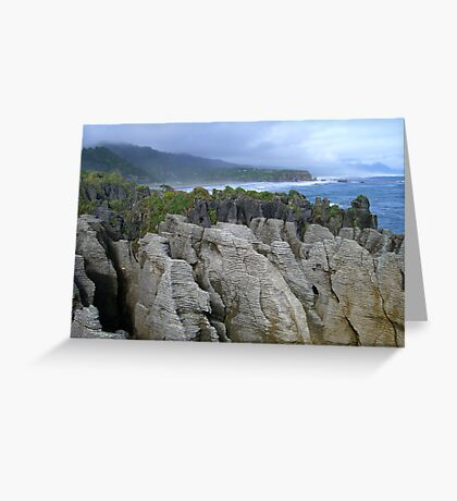 Pancake Rocks, New Zealand Greeting Card