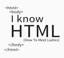I KNOW HTML (HOW TO MEET LADIES) Kids Clothes