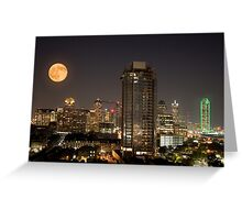 Full Moon over Dallas Greeting Card