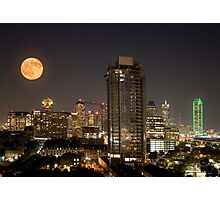 Full Moon over Dallas Photographic Print