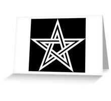 Pentangle - Pentagram - Double Greeting Card