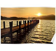 Sunset Jetty Coniston Poster
