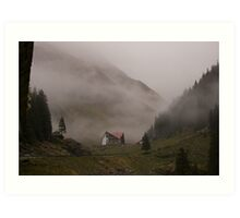 mountain cabin Art Print
