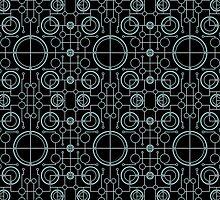 Tron Matrix Geometric by SharpeDesign