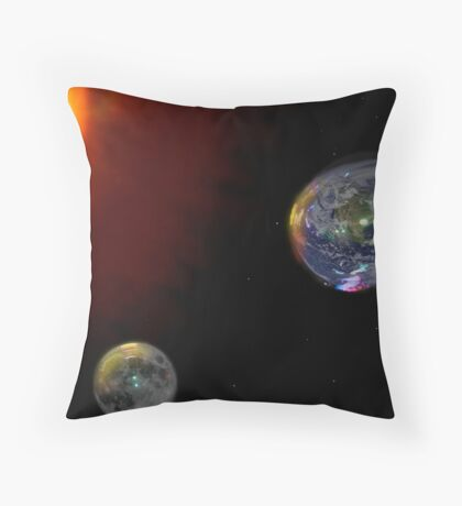 The Big Bubble Theory - The Creation of Earth Throw Pillow