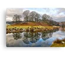 River Brathay Reflections Canvas Print