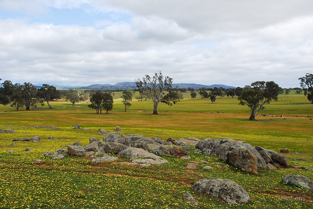 Grampians in the distance by JensLens