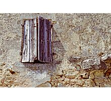 Old shutters Photographic Print