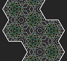 Hexagon Chameleon Geometric by SharpeDesign