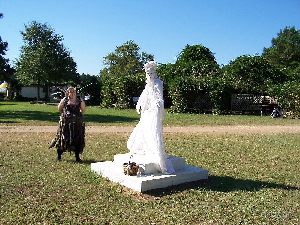 the white statue girl by Chris Alsup
