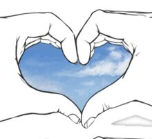heart hand skies. Sticker
