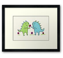 Dino Love Framed Print
