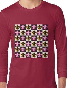 Fleur de lis pattern Long Sleeve T-Shirt