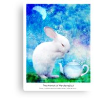 Ah, My bunny! Canvas Print