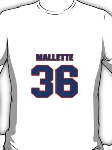 National Hockey player Troy Mallette jersey 36 T-Shirt