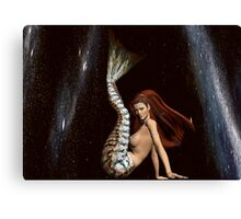 Space Mermaid 3 Canvas Print