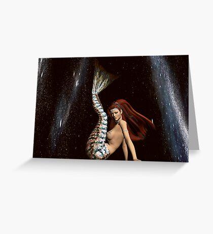 Space Mermaid 3 Greeting Card
