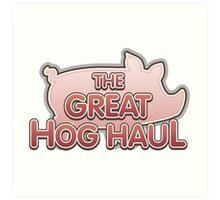 Glitch Overlay The Great Hog Haul logo Art Print