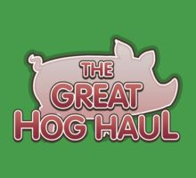 Glitch Overlay The Great Hog Haul logo One Piece - Short Sleeve