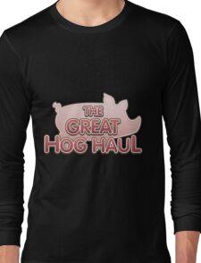 Glitch Overlay The Great Hog Haul logo Long Sleeve T-Shirt