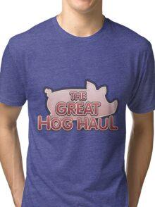 Glitch Overlay The Great Hog Haul logo Tri-blend T-Shirt