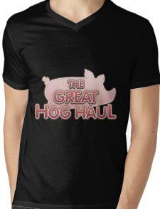 Glitch Overlay The Great Hog Haul logo Mens V-Neck T-Shirt