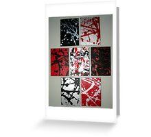 7 frames Greeting Card