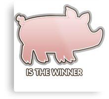 Glitch Overlay The Great Hog Haul Winner Metal Print