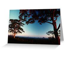 Glass House Mountains.... Australia Greeting Card