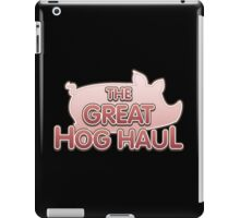 Glitch Overlay The Great Hog Haul logo iPad Case/Skin
