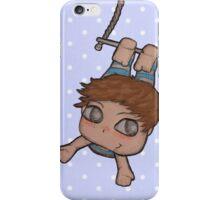 LITTLE BOY AERIALIST. COLOR BLUE DOTS iPhone Case/Skin