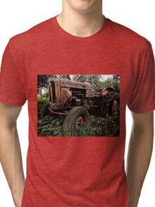 Old vintage tractor digital art Tri-blend T-Shirt