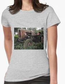 Old vintage tractor digital art Womens Fitted T-Shirt