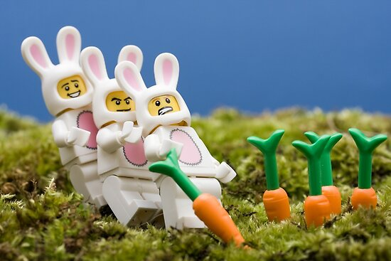 Lego Bunnies by Kevin  Poulton - aka 'Sad Old Biker'