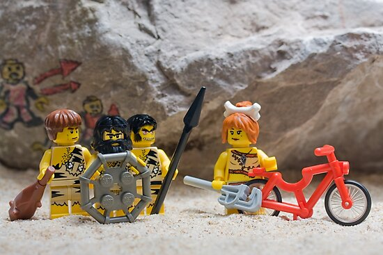 Inventing the wheel - Lego style by Kevin  Poulton - aka 'Sad Old Biker'