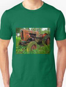 Old vintage tractor digital art Unisex T-Shirt