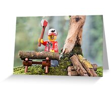 Lego Lumberjack Greeting Card