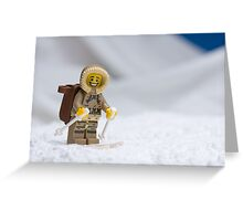 Skiing Lego Eskimo  Greeting Card