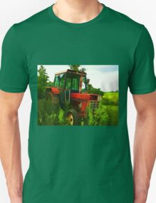 Old vintage tractor digital art manipulation Unisex T-Shirt