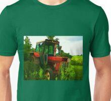 Old vintage tractor digital art manipulation Unisex T-Shirt