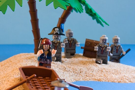 Lego Captain Jack Sparrow and the wrong zombies by Kevin  Poulton - aka 'Sad Old Biker'