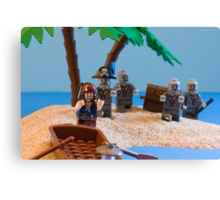 Lego Captain Jack Sparrow and the wrong zombies Canvas Print
