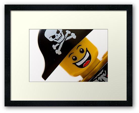 Happy Lego Pirate by Kevin  Poulton - aka 'Sad Old Biker'