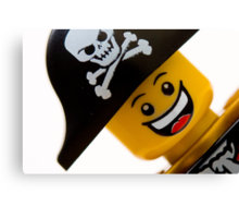 Happy Lego Pirate Canvas Print