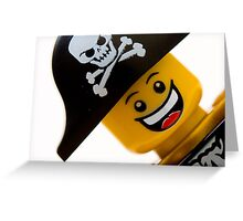 Happy Lego Pirate Greeting Card